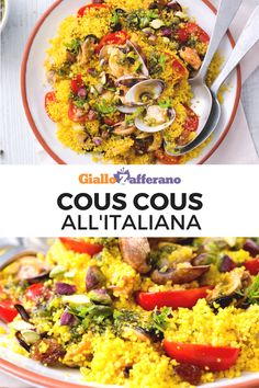 Recipe R, Couscous Recipes, Seafood Dishes, Italian Recipes, Pesto, Risotto, Vegetarian Recipes, Curry, Food And Drink