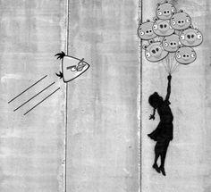 streetart 1 70 street art fun et créatifs – vol 14 Art And Illustration, Banksy, Bird Attack, We Heart It, Culture Jamming, Graffiti Designs, Amazing Street Art, Lucky Girl, Geek Girls