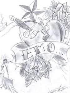 Kiss Drawings Anime Love Emo Makeup Tattoo