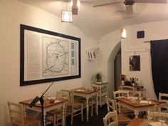 """Sedie e tavoli Pub Ristoranti Pizzerie MAIERON SNC www.mobilificiomaieron.it  - https://www.facebook.com/pages/Arredamenti-Pub-Pizzerie-Ristoranti-Maieron/263620513820232 - 0433775330.  Sedie e tavoli ristorante. Arredo """"Ass.Enogastronomica d'arte Doc & Dop """"a Roma. Tavoli e sedie in color bianco in stile shabby .Produzione Mobilificio maieron arredi pub, arredi bar, arredi ristoranti e arredi pizzerie. #arredoRistorantemaieron #arredoristorante #tavoliesedie  #arredoristorante, #arredopub"""