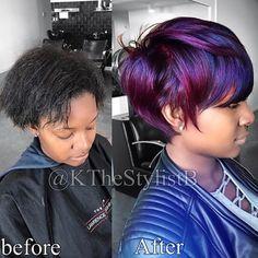 Wow! cut and color by @kthestylistb - https://blackhairinformation.com/hairstyle-gallery/wow-cut-color-kthestylistb/