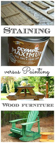 Staining wood Furniture, versus painting - Debbiedoo's