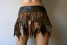 Dream Warriors worn out brown leather wrap/ by DreamWarriors