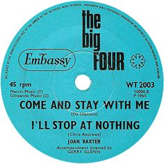 The Big Four (Come And Stay With Me / I'll Stop At Nothing) - Joan Baxter (WT2003) Mar '65