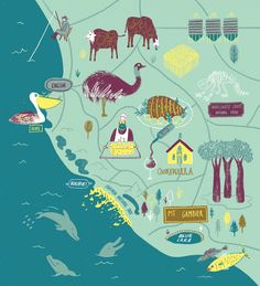 Limestone Coast illustration by Daniel Gray • Flavours of South Australia