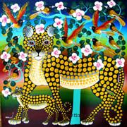 tingatingastudio- features African artist and their tinga tinga paintings