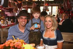 Philipp Lahm and family at Oktoberfest 2015