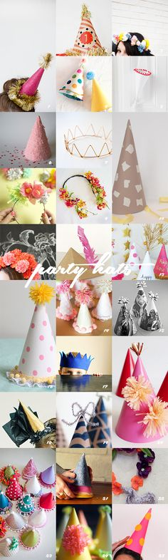 25 party hats to make! I would love to make these, probably won't get to make them, but cute idea.