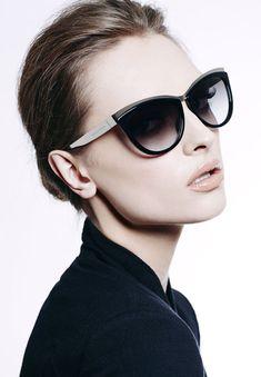 """Alexander McQueen """"Brow Cat"""" Metal Acetate sunglasses"""