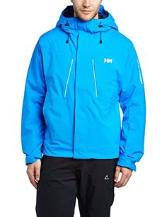 Helly Hansen Mens Progress Jacket Racer Blue XLarge >>> Check this useful article by going to the link at the image. #mensoutdoorclothing Mens Outdoor Clothing, Helly Hansen, Outdoor Outfit, Stretch Fabric, Hooded Jacket, Image Link, Jackets, Blue, Camping