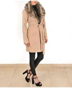 The Faux Fur Camel Coat