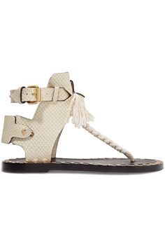 a016419f1918 Isabel Marant Jep snake-effect leather and woven sandals