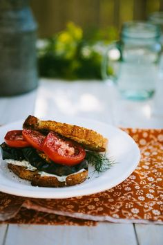 Roasted Eggplant Sandwich [Red Star to Lone Star]
