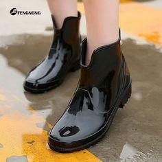 $29.99 (Buy here: https://alitems.com/g/1e8d114494ebda23ff8b16525dc3e8/?i=5&ulp=https%3A%2F%2Fwww.aliexpress.com%2Fitem%2FWomen-Rain-Boots-2016-New-Spring-Autumn-Fashion-Lady-Waterproof-Shoes-Pu-Ankle-Slip-on-Rainboots%2F32727218398.html ) Women Rain Boots 2016 New Spring Autumn Fashion Lady Waterproof Shoes Pu Ankle Slip-on Rainboots Square Heel Botas De Lluvia Par for just $29.99