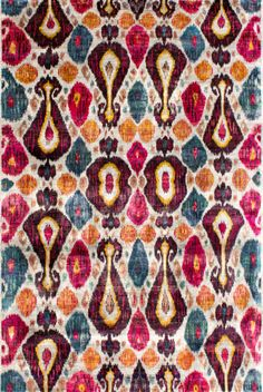 Samani Hand-Knotted Silk Rug by Woven Concepts at Gilt Tapestry Beach, Tibetan Rugs, Weaving Textiles, Ikat Pattern, Beach Blanket, Modern Rugs, A Boutique, Printing On Fabric, Print Patterns