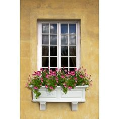 Classic white faux wood plastic window box works great for flowers. Window box flower planters of this size also work great on deck railings using adjustable deck rail brackets. These window boxes can also be installed over fences using adjustable deck railing brackets.