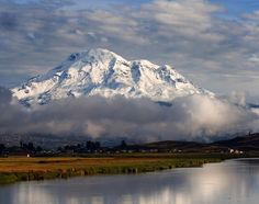 Chimborazo, Ecuador  it is rare to see the top because it is almost always cloud covered