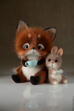 Authors' toys made of wool. Needle Felted Animals, Felt Animals, Animals And Pets, Needle Felting, Cute Animal Drawings, Cute Drawings, Cute Funny Animals, Cute Baby Animals, Felt Baby