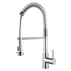 Yosemite Home Decor Polished Chrome 1-Handle Pull-Out Kitchen Faucet Y