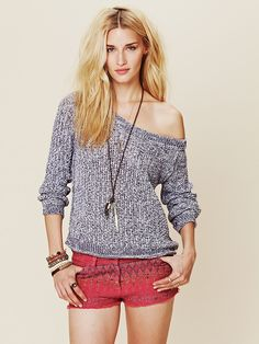 Free People Marled Yarn Pullover at Free People Clothing Boutique