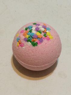 Pink Peppermint Bath Bomb- Handmade by HollysAbstractArt on Etsy