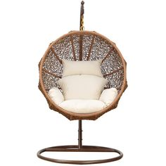 Dot & Bo Nested Hanging Lounge Chair ($899) ❤ liked on Polyvore featuring home, furniture, chairs, accent chairs, decor and home decor