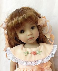 "Dianna Effner Little Darling Doll 13"" Painted by Lana Dobbs + EXTRAS"