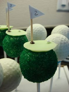 I had to pin this for my fiance. Going with the cake pop idea, he could have these for his grooms cake. Yes?