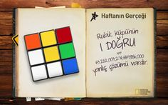 #HaftaninGercegi: Rubik Küpü'nün 1 doğru ve 43,252,003,274,489,856,000 yanlış çözümü vardır.   Sen o doğru yolu bulabilenlerden misin?