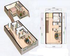 10평 복층형 원룸주택 도면 팬션, 주말주택용으로 적합한 10평(바닥면적 7평) 복층형 원룸주택 도면 // ▲ 16평형 평면도 바닥15평 다락방 3평의 아담한 주말주택입니다. 위 도면에서 조금 더 큰 면적이 필요하신 경우에는 좌 우 치수를 조정하시