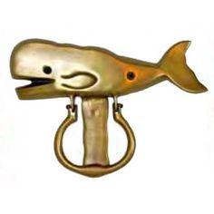 Brass Whale Door Knocker