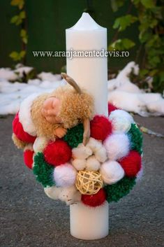 Flower Diy, Diy Flowers, Candles, Christmas Ornaments, Holiday Decor, Handmade, Hand Made, Christmas Jewelry, Candy
