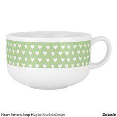 Heart Pattern Soup Mug