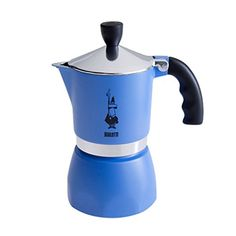 "Bialetti ""Fiammetta"" Stove Top Espresso Maker, 3-cup (BLUE)"