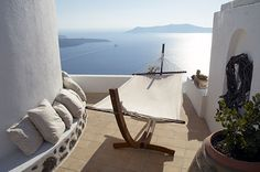 modern rooftop terrace in Santorini - gorgeous view