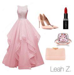 """""""Prom Outfit"""" by leahzorbalas2006 ❤ liked on Polyvore featuring Aquazzura, Serpui and Smashbox"""