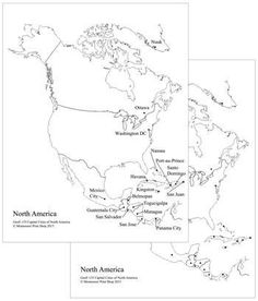 north american capital cities map