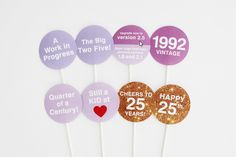 25th Birthday 1992 - Lilac Dreams, 25th Photo Booth Props Party Printable | INSTANT DOWNLOAD