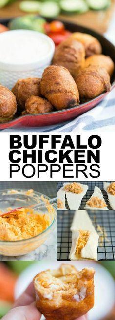 Buffalo Chicken Poppers  via @spaceshipslb