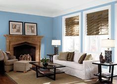 This is the project I created on Behr.com. I used these colors: CHILLY BLUE(S500-4),