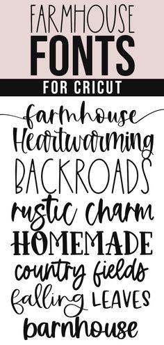 Free Fonts For Cricut, Cricut Fonts, Cricut Ideas, Farmhouse Font, Farmhouse Signs, Fun Fonts, Cool Fonts, Eat Sign, Soap Making Supplies