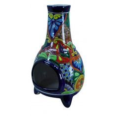 Han Painted Large Talavera Chiminea