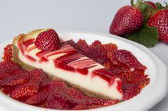 Tarta Fresca De Queso y Leche Condensada Con Fresas