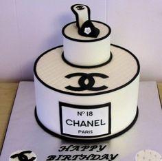 chanel inspired birthday cake - Google Search
