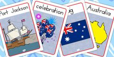 This resource covers the main vocabulary for this topic, with a different key word or phrase on each poster and one of our own hand drawn images to illustrate it. Great for display, as discussion prompts, and reference. Anzac Day, Australia Day, Celebration, How To Draw Hands, Posters, Display, Illustration, Australia Day Date, Floor Space