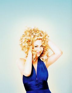 Alex Kingston rocking a TARDIS blue dress and spectacular hair.... seriously, any more perfect???