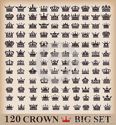 Photo about crown icons vector set. Illustration of crown, vintage, line - 36314705 Tatoo Art, Get A Tattoo, Body Art Tattoos, New Tattoos, Tattoos For Guys, Tatoos, Symbol Tattoos, Crown Tattoos For Women, King Crown Tattoo