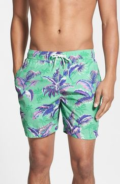 Scotch & Soda Tropical Print Swim Trunks available at #Nordstrom
