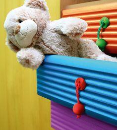 Tęczowe uchwyty Rainbow www.gamet.eu #uchwyt #meble #dzieci #pokoj #dzieciecy #knob #doorknob #child #room #design #fun #rainbow