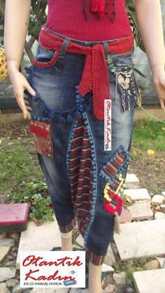 DIY - Handmade Purse and Wallet Ideas & Sew Recommendations - Wewer Fashion Denim Outfit, Baggy Pants, Boho Fashion, Fashion Outfits, Denim Crafts, Moda Casual, Recycle Jeans, Bohemian Mode, Jean Outfits